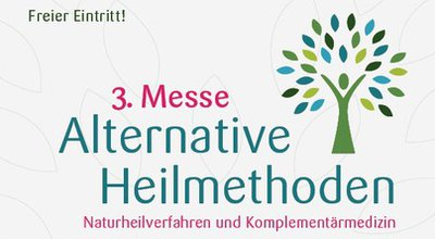 Werbung für Messe für alternative Heilmethoden